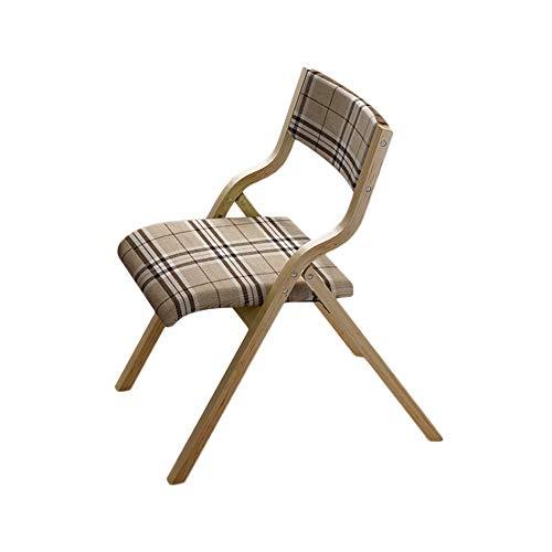 FENGFAN Stuhl Holz + Stoff Klappstuhl Rückenlehne Massivholz Beine 73 * 47.5 * 63.5Cm (Farbe : C) -