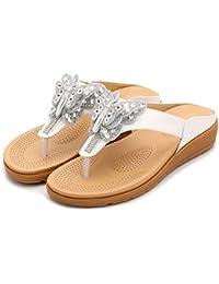 Zengbang Flip Flops con Strass Casual Zapatos Sandalias Zapatillas de Playa para Mujeres