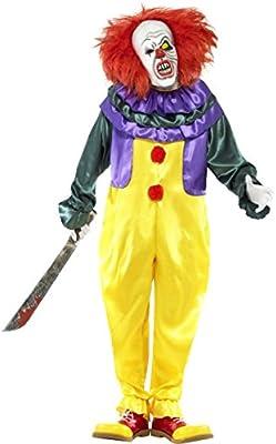 Para hombre Classic Horror Payaso Halloween película TV disfraz M-XL