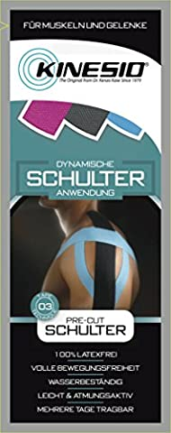 Kinesio® Kinesiology Tape - PreCut Schulter Blau - Schwarz
