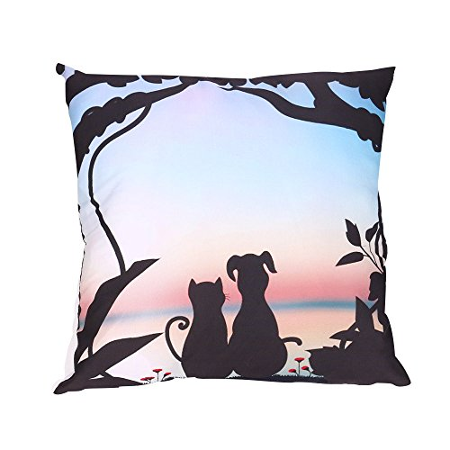 NEEDRA Lch Liebe Dich Valentinstag Romantisch Geschenk 45x45 cm Deko-Kissen Geburtstag/Bedrucktes Motiv-Kissen Mit Herzen -