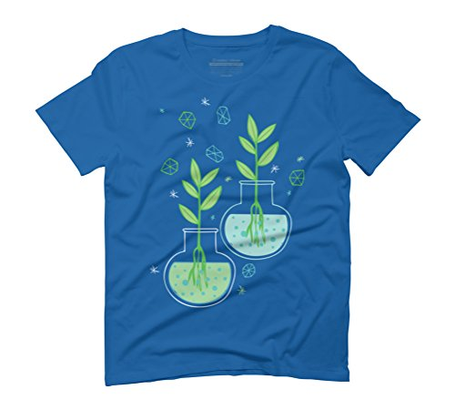 Botany Men's Graphic T-Shirt - Design By Humans Royal Blue