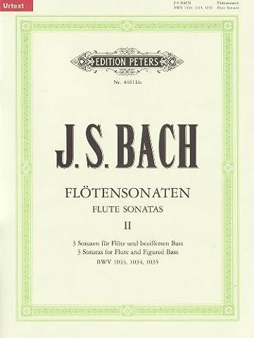 Sonaten für Flöte und bezifferten Bass BWV 1033 - 1035 / URTEXT: Flötensonaten - Band 2