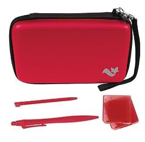 Nintendo 3DS XL 5-in-1 Travel Pack / Tasche, Etui, stylus Stifte: Rot (Nintendo 3DS XL)