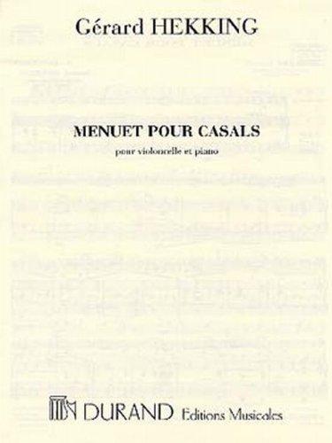 Menuet pour Casals - Vc/Po