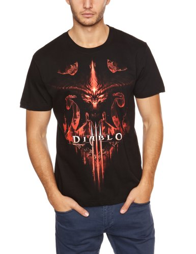 Diablo-III-T-Shirt-Burning-Gre-M