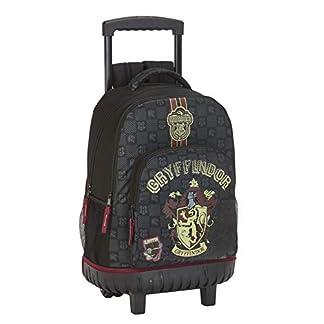 41CFsHXVw L. SS324  - Safta - Mochila Grande de Harry Potter Oficial Gryffindor con Ruedas Compact y asa extraíble