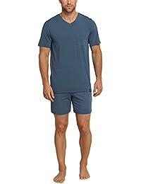 Schiesser Herren Zweiteiliger Schlafanzug Long Life Cotton Anzug Kurz