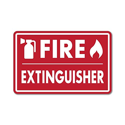 Business & Industrial Health And Safety Fire Sticker Sign Fire Extinguisher Flames Sticker Red Elegant In Smell Adhesives, Sealants & Tapes