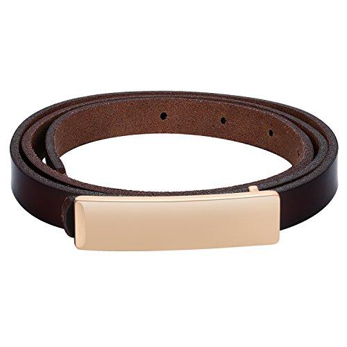 Patent Leder Schnalle Gürtel (BABEYOND Damen Taillengürtel Metallic dekorativ Gürtel schmal Gürtel elastisch Taille Strap Stretchy modisch Gürtel für Kleider (Style-7))