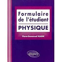 Formulaire de l'étudiant: Physique