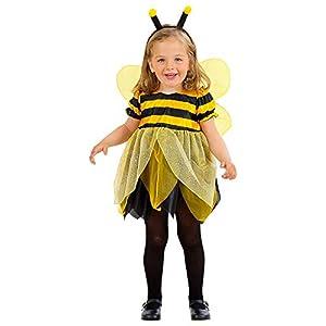 WIDMANN - Disfraz infantil de abeja multicolor, 104 cm / 2 - 3 años, 49319