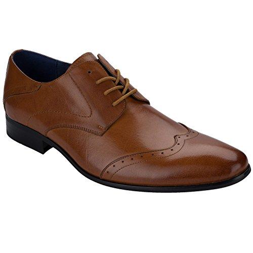 Remus Uomo - Zapatos de Cordones para Hombre Marrón Canela 44 jrr6WhPxyD