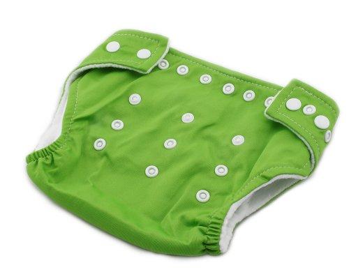 Baby Stoffwindel Windel Überhose Größe verstellbar Windelhose Einstellbare Größe 3-13kg Grün -
