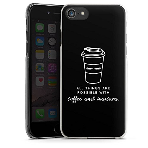 Apple iPhone X Silikon Hülle Case Schutzhülle Mascara Kaffee Spruch Hard Case transparent