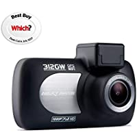 Nextbase 312GW Full 1080p HD In Car Dash Cam, Black, 87 x 58 x 19 mm (37mm inc lens)