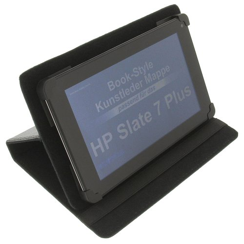 foto-kontor Tasche für HP Slate 7 Plus BookStyle Schutz Hülle Schwarz