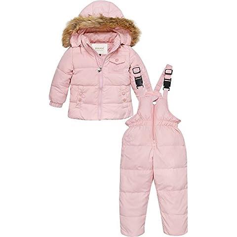 ZOEREA Chaqueta de esquí para niño Chaqueta niña abrigos niño Pantalones de nieve Ropa de invierno