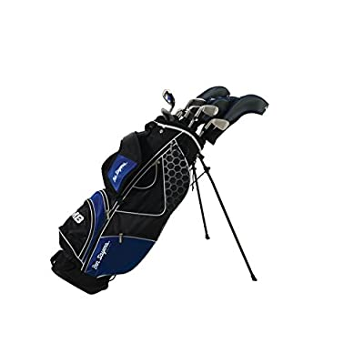 Ben Sayers M8 Package Set - Blue (Stand Bag) Gr/St MRH + 1 inch - sports-outdoor-bags, golf-club-bags
