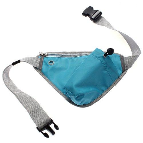 Hüfttasche mit verstellbarem Bauchgurt Hellblau