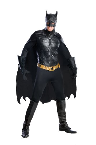 Adult Deluxe Dark Knight Kostüm Batman - Batman The Dark Knight Rises Deluxe Kostüm - Medium