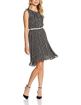 Intimuse Damen, ärmelloses Kleid mit Polka Dots & Gürtel