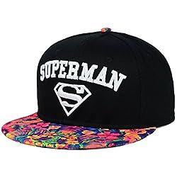 DC Comics Superman Embroidered Logo Tropic Bill Snapback Gorra De Béisbol