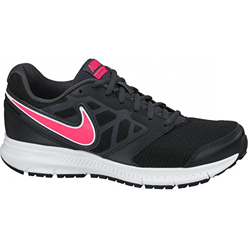 Nike Downshifter 6, Chaussures de Running Entrainement Femme Black/Hyper Punch-Anthracite