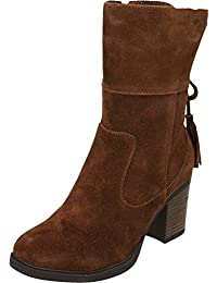 e3dcdc6b6b2 Carmela Suede Leather Ankle Calf Heeled Boots