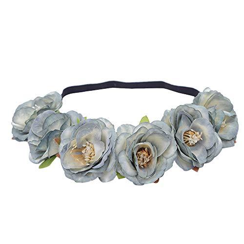 Scrolor Boho Damen Stirnband Floral Flower Festival Hochzeit Girlande Haar Kopf elegante exquisit Strand Party Kopfschmuck Stirnbänder