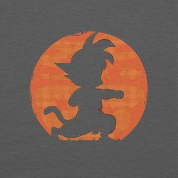 NERDO - Goku Fighting Pose - Damen T-Shirt Grau