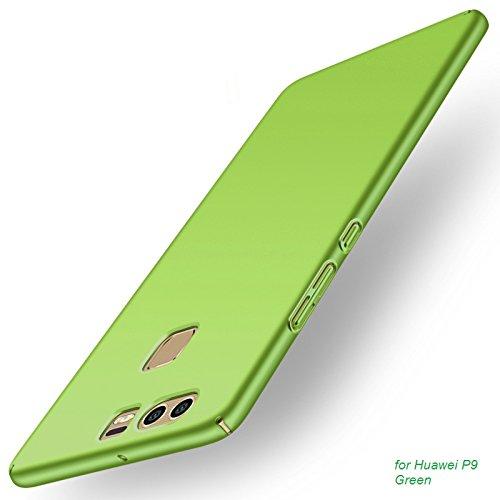 Apanphy Huawei P9 Hülle , Hohe Qualität Ultra Slim Harte Seidig Und Shell Volle Schutz Hinten Haut Fühlen Schutzhülle für Huawei P9, Grüne