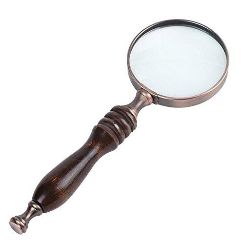 Amorar Lupe 10×Leselupe, Handlupe Lesevergrößerungsglas Magnifier Vergrößrungglas Schmuck Lupe für Senioren, Lesen, Inspektion, Hobby, Handwerk, Uhrmacher, Antiquitäten
