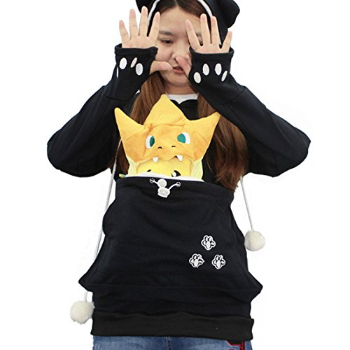 Damen Kapuzenpullover mit Tasche Kangaroo Hoodie Carrier Sweatshirt Pullover Langarm Hoody Jacke Herbst Winter Outerwear Von Xinan (S, (Sie Kostüme Elektro Geben)