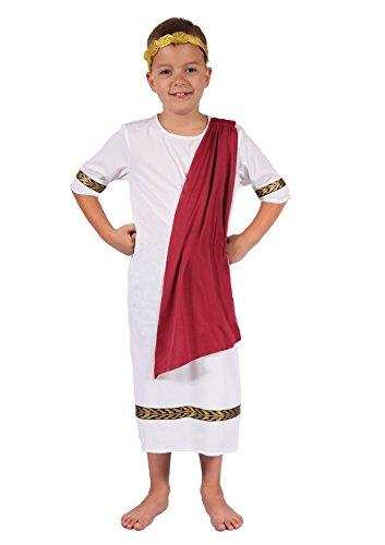 Blumen Paolo-Römischer Kaiser Kostüm Kind römischer Kaiser M (5-7 anni) Bianco