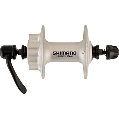 Shimano Disc 6 Bolt Front Hub - Silver, 36 Hole by Shimano Deore