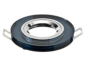 Spot lED et halogène gU10 mR16 spot encastrable rond en verre noir graphite idéal pour lampes lED mR16 suivant