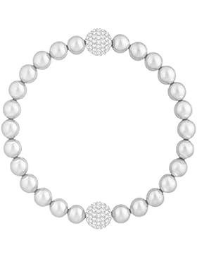Swarovski Remix Collection Light Gray Crystal Pearl, weiss, rhodiniert