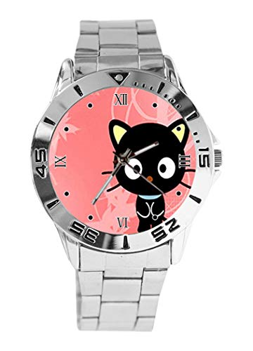 a05b045be Chococat Design Analog Wrist Watch Quartz Silver Dial Classic Stainless  Steel Band Women's Men's Watch
