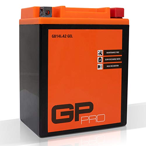 GP-PRO GB14L-A2 12V 14Ah GEL-Batterie (Ähnlich YB14L-A2 / 51411) (Wartungsfrei & Versiegelt) Akkumulator Motorrad Motorradbatterie