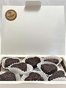 Corazones de Trufa de Chocolate