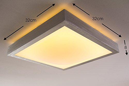 led deckenlampe wutach eckig 1380 lumen 18 watt 3000 kelvin warmweiss ip44 badezimmer geeignet. Black Bedroom Furniture Sets. Home Design Ideas
