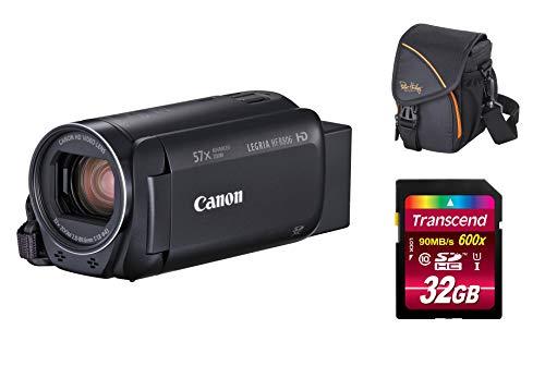 Canon LEGRIA HF-R806 schwarz Full-HD Videokamera/Camcorder Set + 32 GB Speicherkarte + Tasche Zeitraffer HFR806 - Camcorder-set