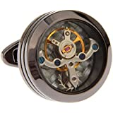 Watch Movement Steampunk Cufflinks with Gift Cufflink Box