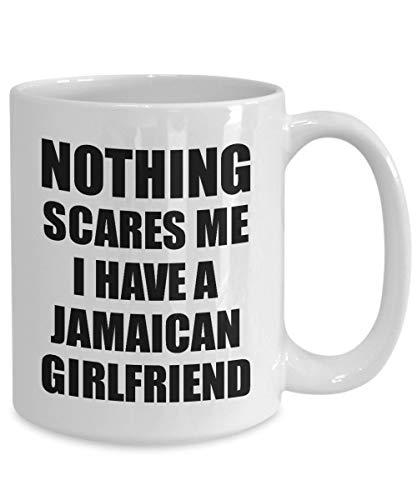 Claude6yhAly Jamaikanische Freundin Becher Funny Valentine Geschenk f¨¹r Bf Mein Freund ihn Jamaika Gf Gag Nichts erschreckt Mich Kaffee Tee Tasse - Jamaika-geschenk-set