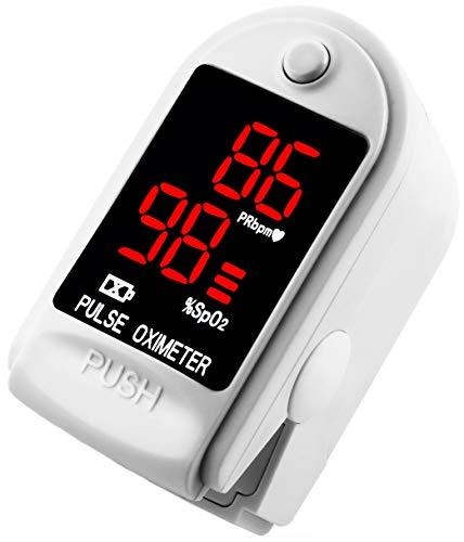 AVAX AV-50DL - Fingerpulsoximeter (Finger Pulse Oximeter) -{5bcc1edb9c2a0acf818b70e1aedd609395bb1aa79bf7f70e6dd4a9fbfffb00f7}SpO2 (Sauerstoffsättigung des Blutes) & Herzfrequenzmesser mit LED-Anzeige und Zubehör - WEISS