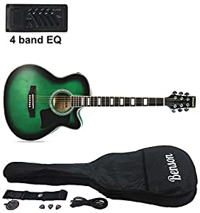 benson s line electric electro semi acoustic hollow body guitar orleans green. Black Bedroom Furniture Sets. Home Design Ideas