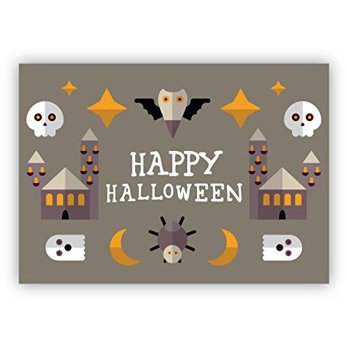 in beige mit Spinne, Fledermaus und Totenkopf: Happy Halloween (Die 10 Besten Halloween-filme Für Familien)