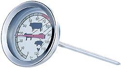 Rosenstein & Söhne Ofenthermometer: Analoges XL Fleisch- und Braten-Thermometer (Bratthermometer)