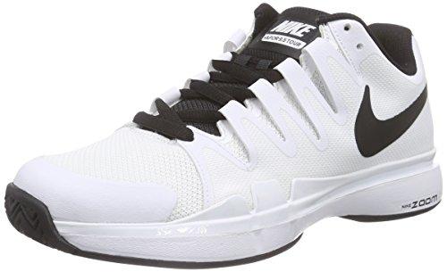 Nike Court Zoom Vapor 9.5 Tour, Herren Tennisschuhe, Weiß (White/Black-Black 101), 47 EU